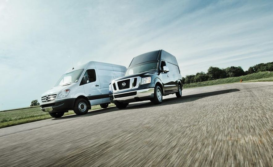2011 Mercedes-Benz Sprinter 2500 and 2012 Nissan NV2500 HD - Slide 1