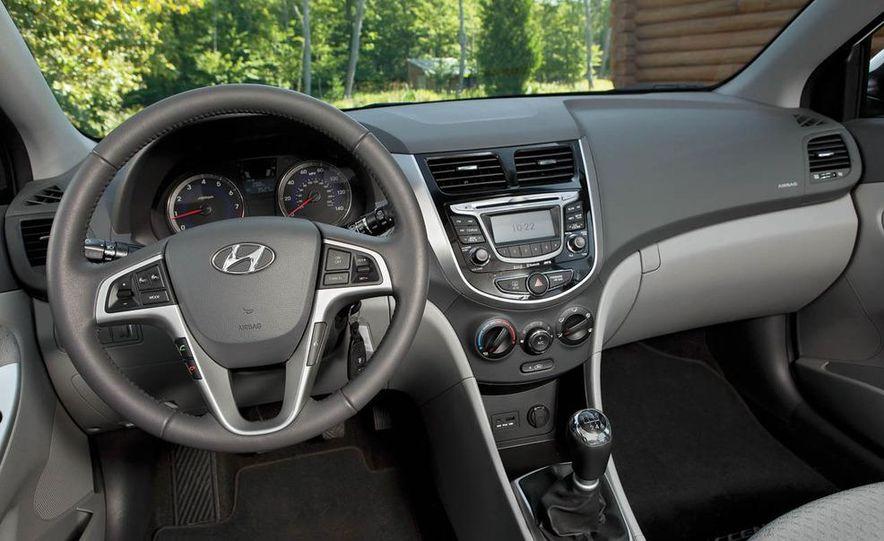 2011 Honda Fit Sport, 2012 Toyota Yaris SE, 2012 Hyundai Accent SE, 2012 Nissan Versa SL, 2012 Kia Rio5 SX, and 2012 Chevy Sonic LTZ Turbo - Slide 15