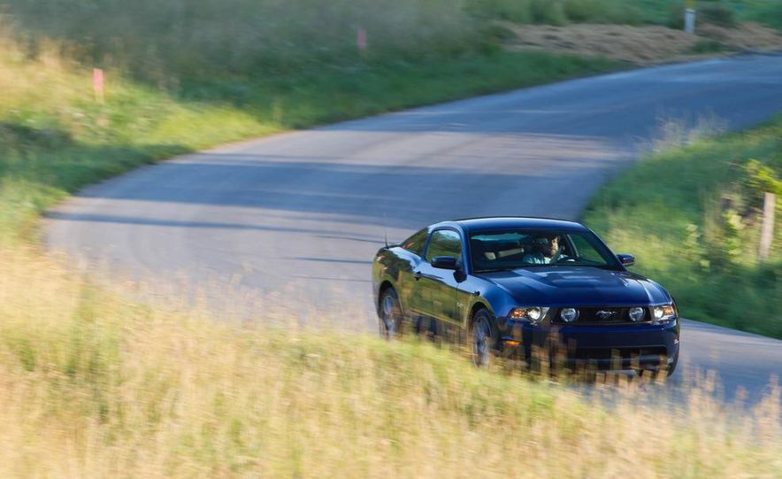 2011 Ford Mustang GT, 2012 Mini John Cooper Works, 2011 Nissan 370Z, 2011 Mitsubishi Lancer Evolution MR, 2012 Volkswagen GTI, and 2012 Mazda MX-5 Miata - Slide 21