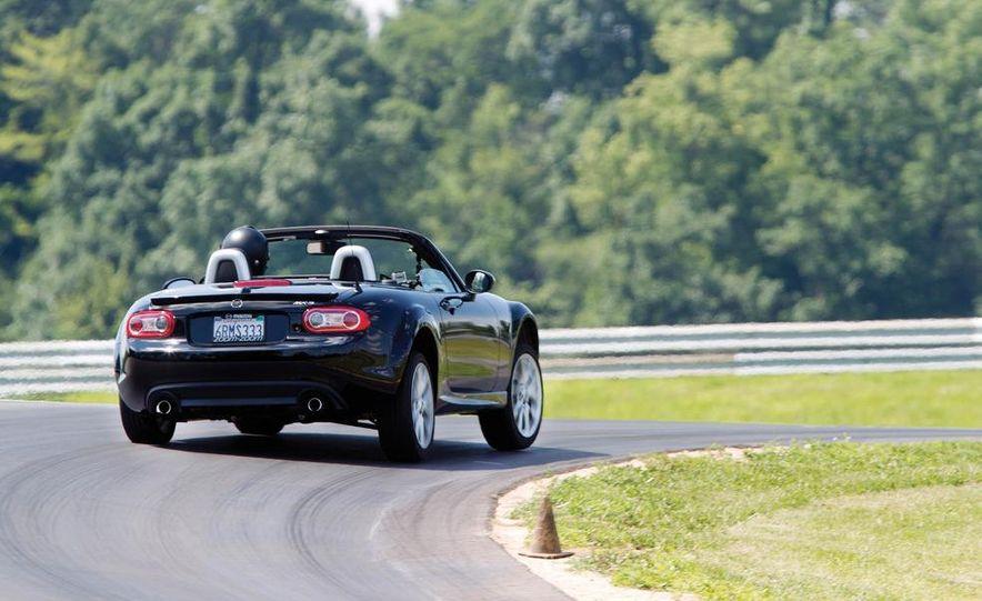 2011 Ford Mustang GT, 2012 Mini John Cooper Works, 2011 Nissan 370Z, 2011 Mitsubishi Lancer Evolution MR, 2012 Volkswagen GTI, and 2012 Mazda MX-5 Miata - Slide 28