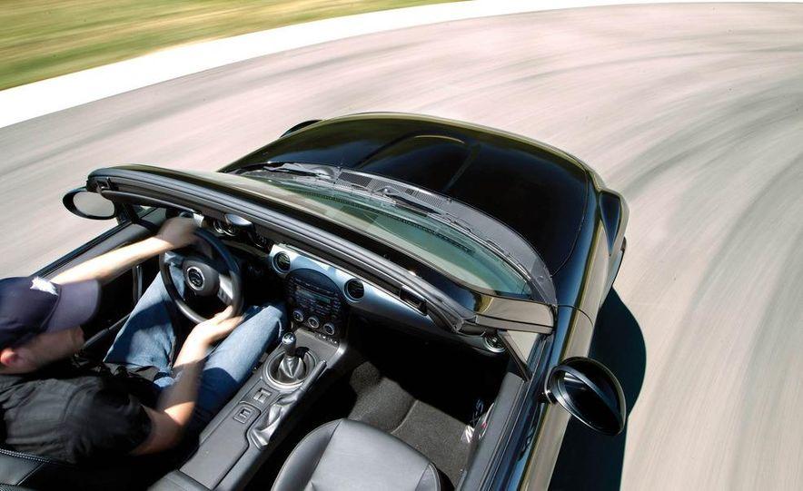 2011 Ford Mustang GT, 2012 Mini John Cooper Works, 2011 Nissan 370Z, 2011 Mitsubishi Lancer Evolution MR, 2012 Volkswagen GTI, and 2012 Mazda MX-5 Miata - Slide 29