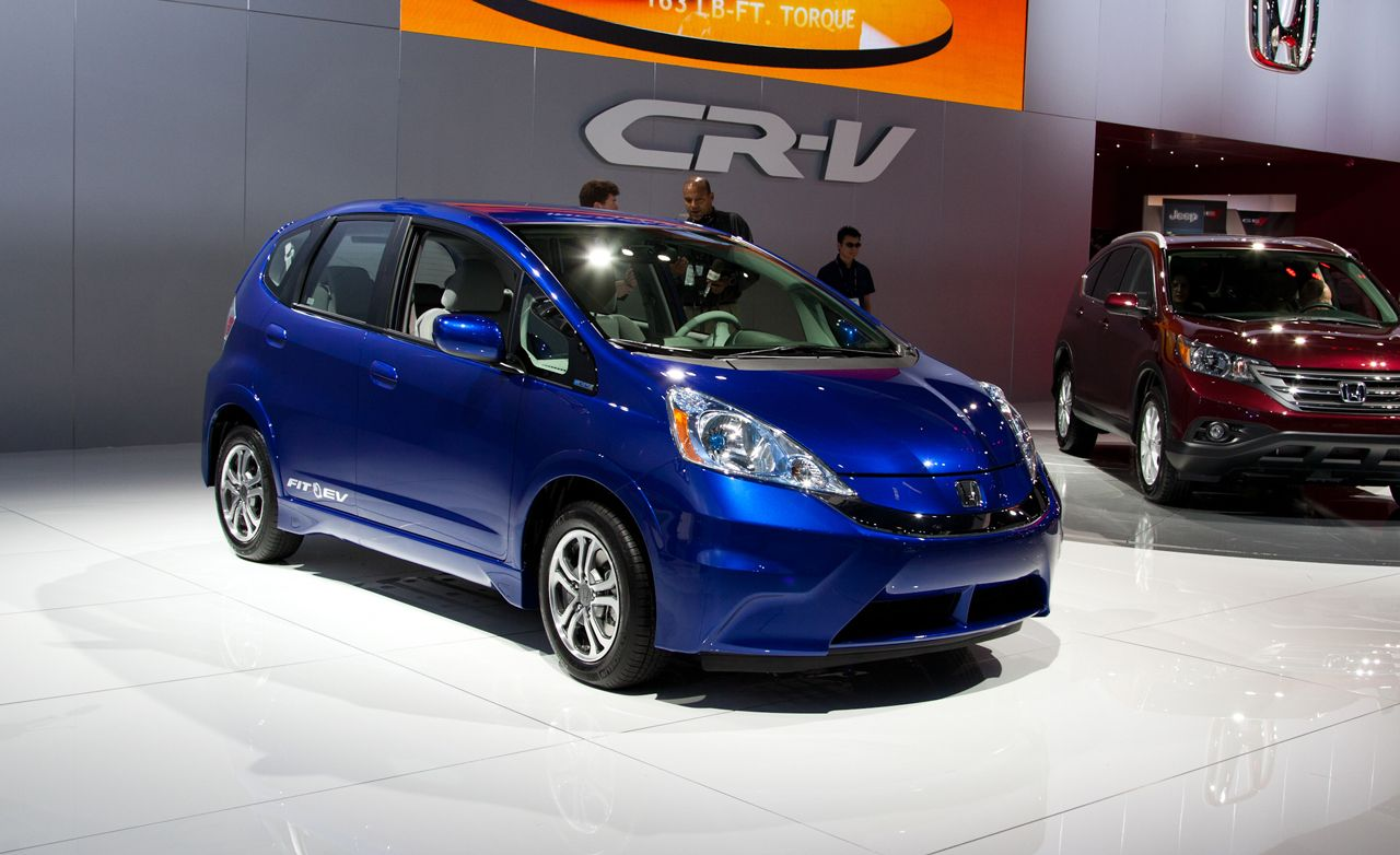 Honda honda fit ev range : 2013 Honda Fit EV Debuts at L.A. Auto Show | News | Car and Driver