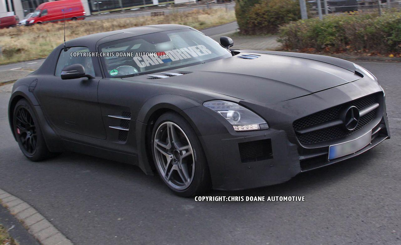 2014 mercedes benz sls amg black series spy photos news car and driver
