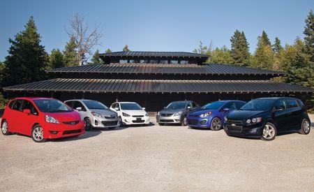 Chevy Sonic vs. Honda Fit, Hyundai Accent, Kia Rio5, Nissan Versa, Toyota Yaris
