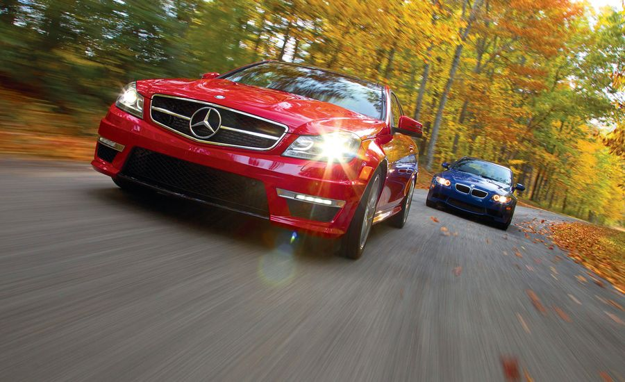 2012 BMW M3 Coupe vs. 2012 Mercedes-Benz C63 AMG Coupe