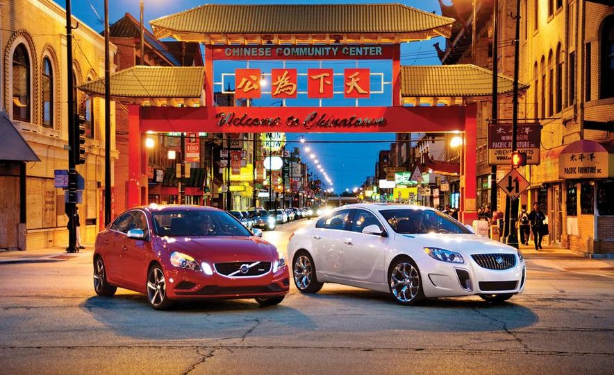 2012 Volvo S60 R-Design and 2012 Buick Regal GS - Slide 1