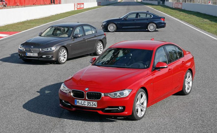 2012 BMW 320d Modern sedan, 328i Luxury sedan, and 328i Sport Line sedan - Slide 1
