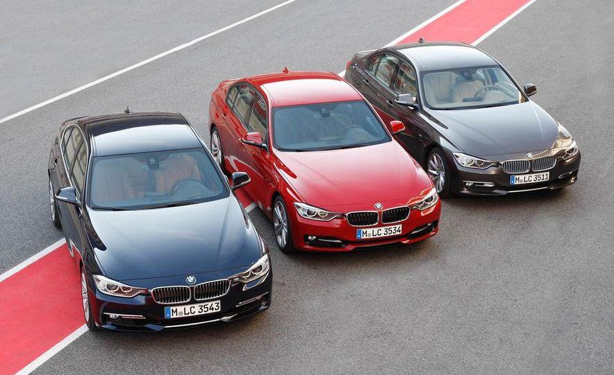 2012 BMW 320d Modern sedan, 328i Luxury sedan, and 328i Sport Line sedan - Slide 3