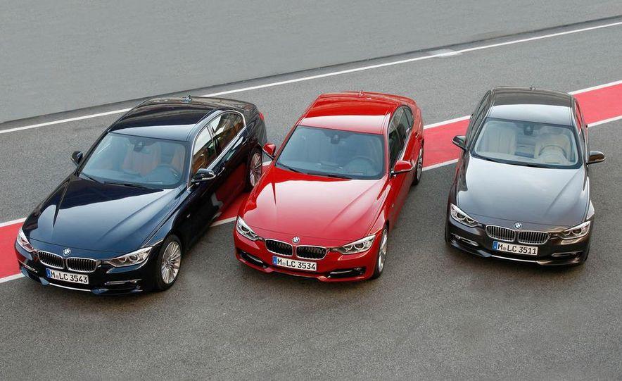 2012 BMW 320d Modern sedan, 328i Luxury sedan, and 328i Sport Line sedan - Slide 4