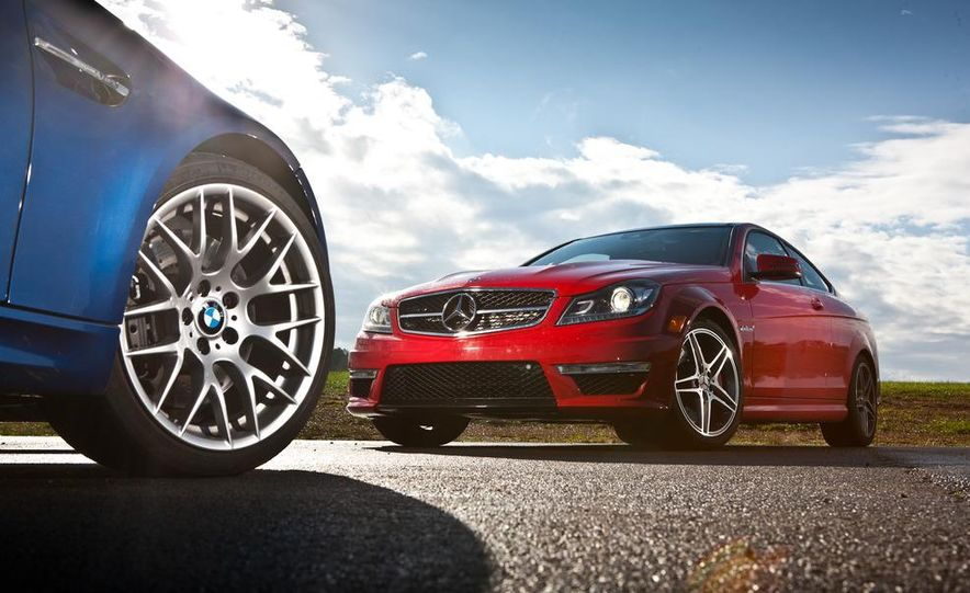 2012 Mercedes-Benz C63 AMG coupe and 2012 BMW M3 coupe - Slide 6