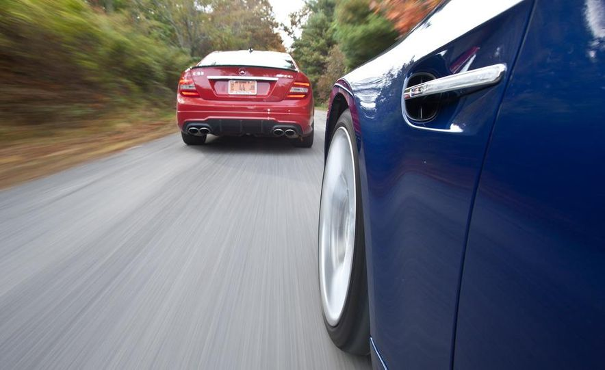 2012 Mercedes-Benz C63 AMG coupe and 2012 BMW M3 coupe - Slide 7