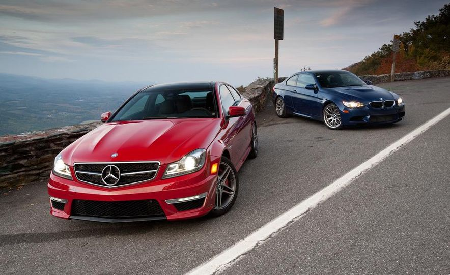 2012 Mercedes-Benz C63 AMG coupe and 2012 BMW M3 coupe - Slide 2