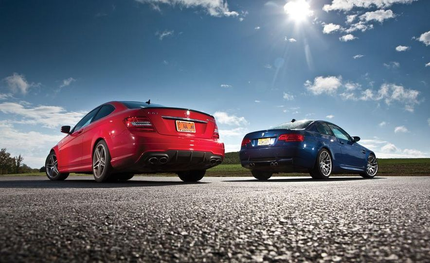 2012 Mercedes-Benz C63 AMG coupe and 2012 BMW M3 coupe - Slide 3