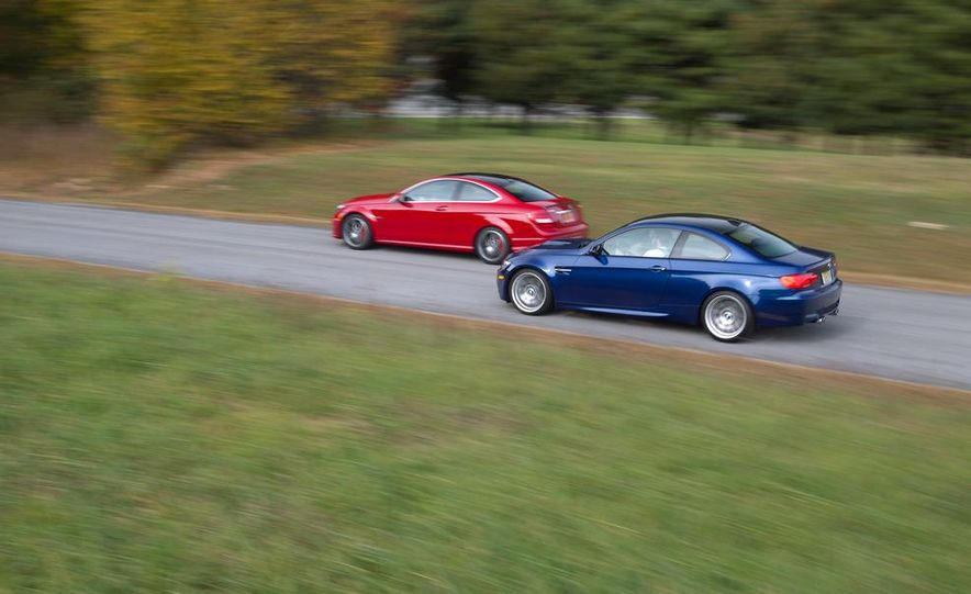 2012 Mercedes-Benz C63 AMG coupe and 2012 BMW M3 coupe - Slide 4