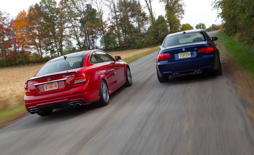 2012 Mercedes-Benz C63 AMG coupe and 2012 BMW M3 coupe - Slide 5