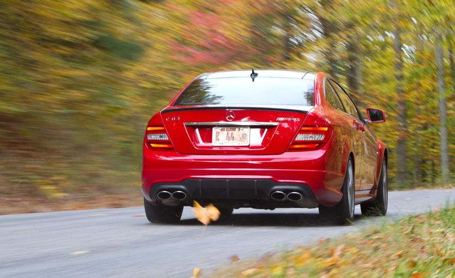 2012 Mercedes-Benz C63 AMG coupe and 2012 BMW M3 coupe - Slide 10