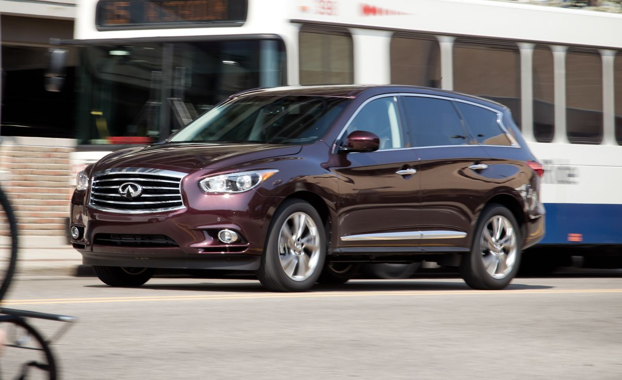 2013 infiniti jx35 crossover test review car and driver rh caranddriver com Infiniti QX Infiniti FX