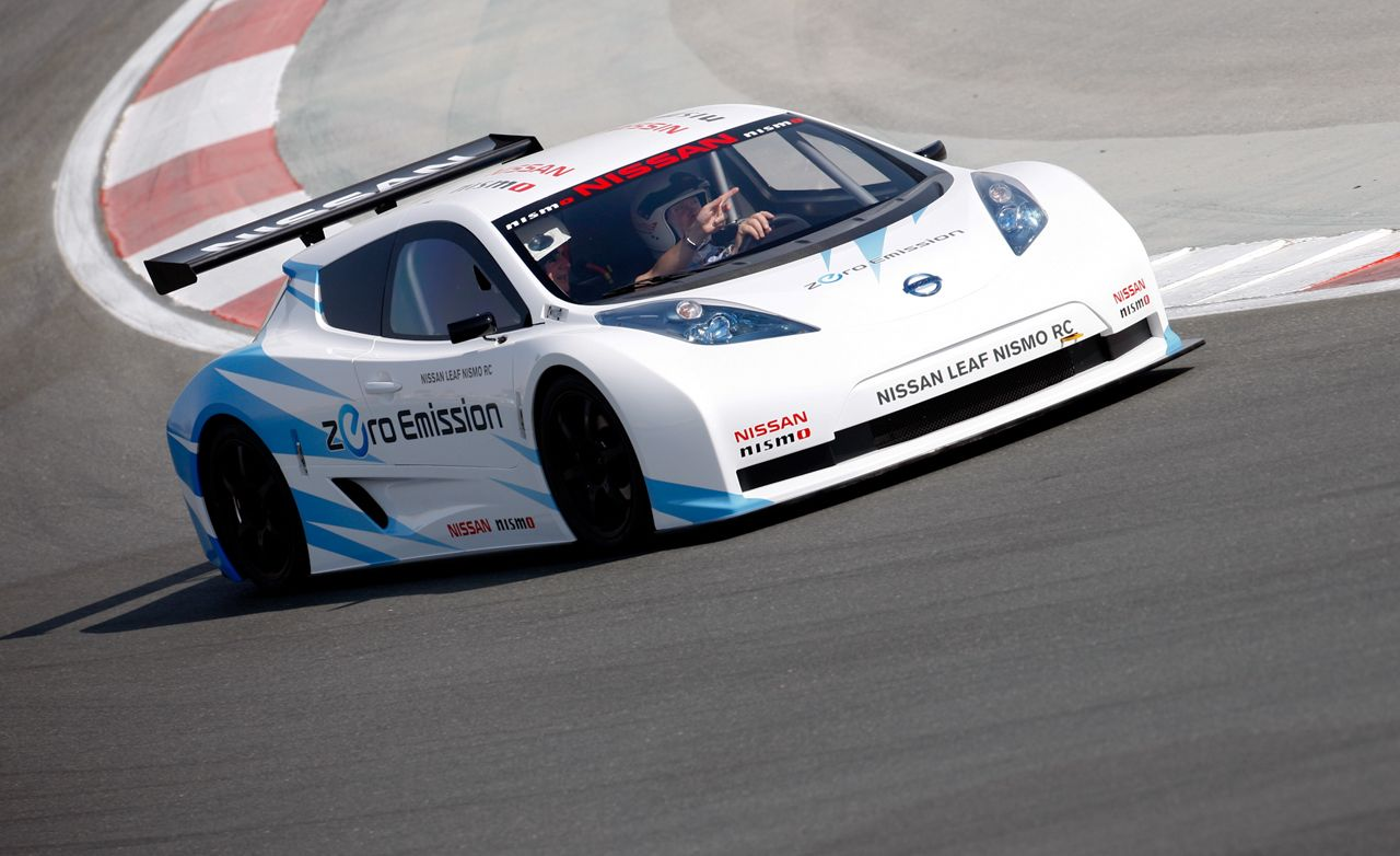 nissan leaf ev nismo race car driven u2013 review u2013 car and driver