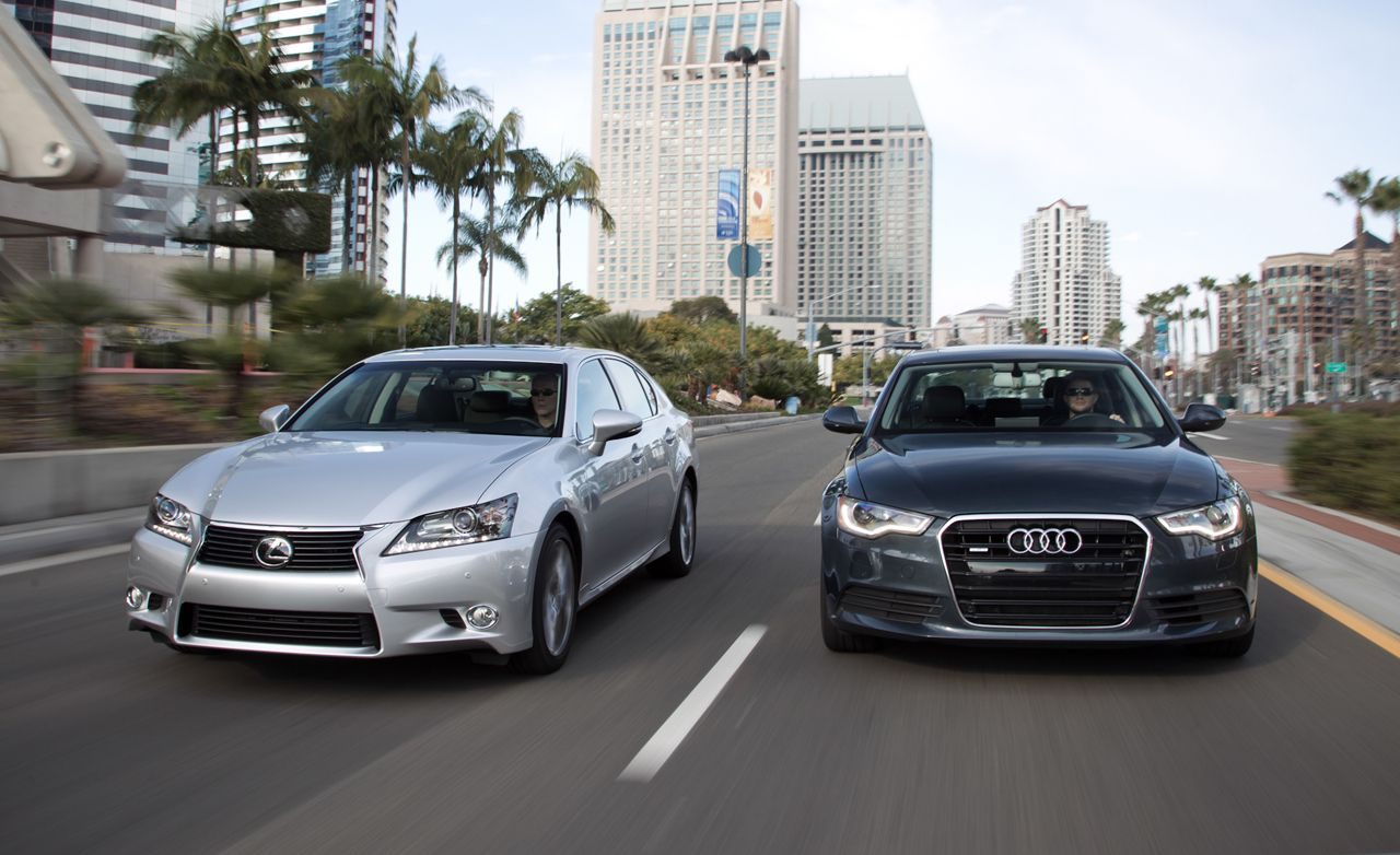 2012 Audi A6 30T Quattro vs 2013 Lexus GS350  Comparison Test