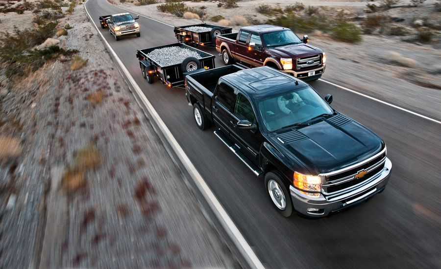 2012 Chevrolet Silverado 2500 LTZ 4WD Crew Cab vs. 2012 Ford F-250 Super Duty King Ranch 4x4 Crew Cab, 2012 Ram 2500 Laramie Longhorn 4x4 Mega Cab