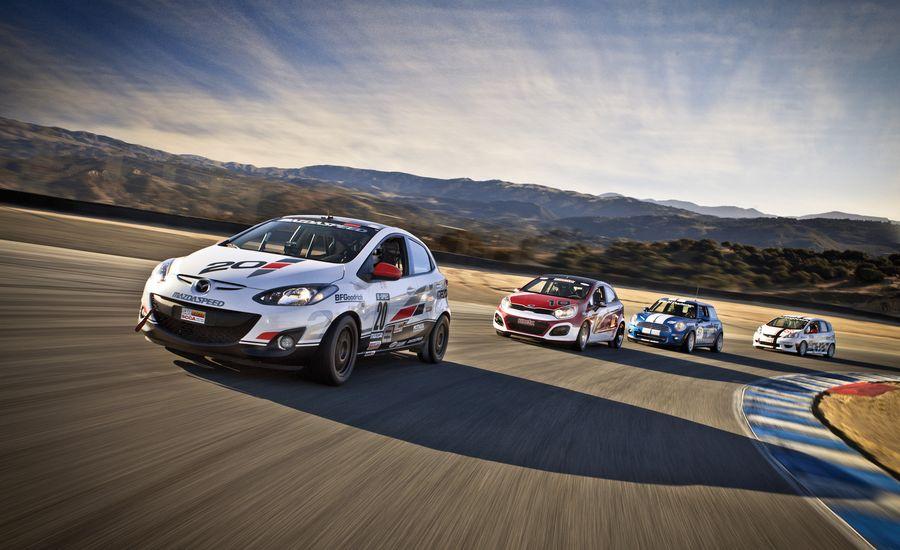 B-spec Racers: Honda Fit vs. Kia Rio5, Mazda 2, Mini Cooper Hatchback
