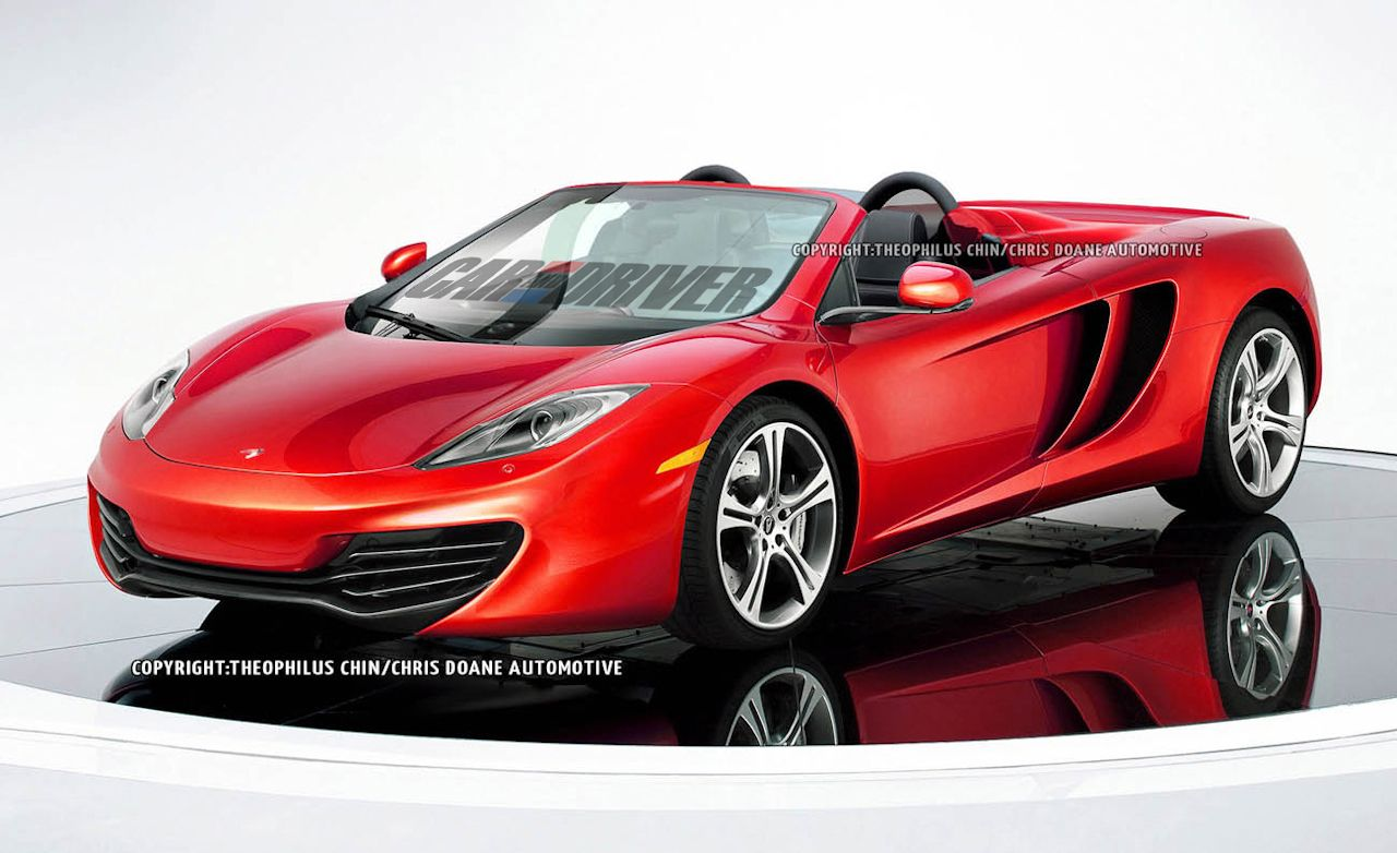 2014 Mclaren Mp4 12c Spider Rendered News Car And Driver