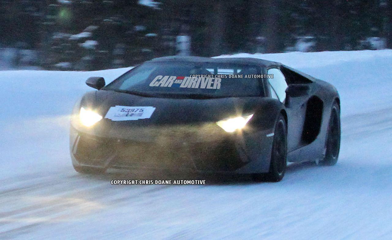 2013 Lamborghini Aventador LP700-4 Roadster Spy Photos