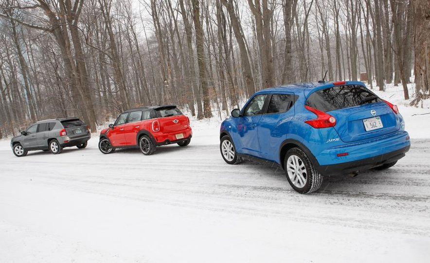 2012 Nissan Juke SV AWD, 2011 Mini Cooper S Countryman ALL4, and 2012 Jeep Compass Latitude 4x4 - Slide 9