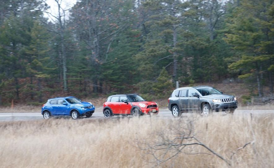 2012 Nissan Juke SV AWD, 2011 Mini Cooper S Countryman ALL4, and 2012 Jeep Compass Latitude 4x4 - Slide 6