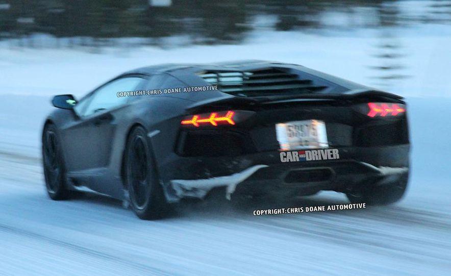 2013 Lamborghini Aventador Roadster (spy photo) - Slide 3
