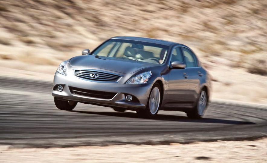 2012 Mercedes-Benz C250 Sport, 2012 Volvo S60 T6 AWD, 2012 Audi A4 2.0T Quattro, 2012 Infiniti G25, and 2012 BMW 328i - Slide 24