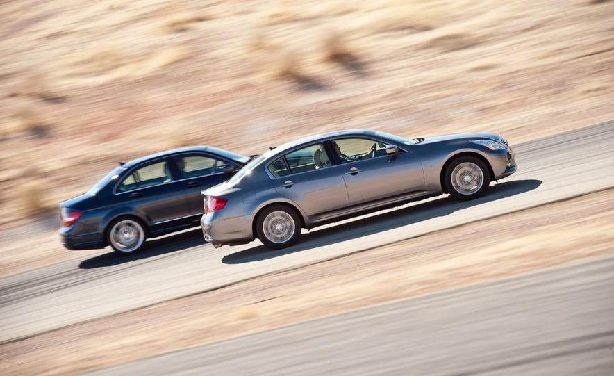 2012 Mercedes-Benz C250 Sport, 2012 Volvo S60 T6 AWD, 2012 Audi A4 2.0T Quattro, 2012 Infiniti G25, and 2012 BMW 328i - Slide 23