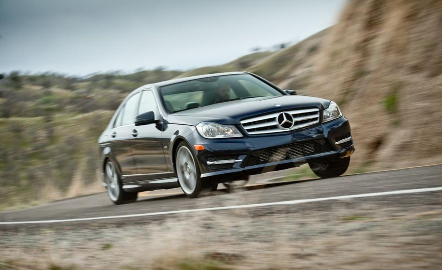 2012 Mercedes-Benz C250 Sport, 2012 Volvo S60 T6 AWD, 2012 Audi A4 2.0T Quattro, 2012 Infiniti G25, and 2012 BMW 328i - Slide 31