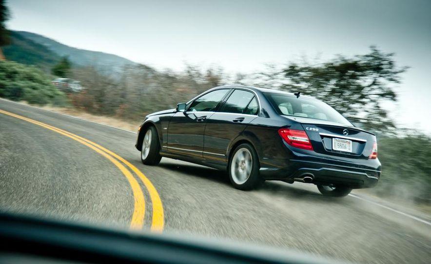 2012 Mercedes-Benz C250 Sport, 2012 Volvo S60 T6 AWD, 2012 Audi A4 2.0T Quattro, 2012 Infiniti G25, and 2012 BMW 328i - Slide 32
