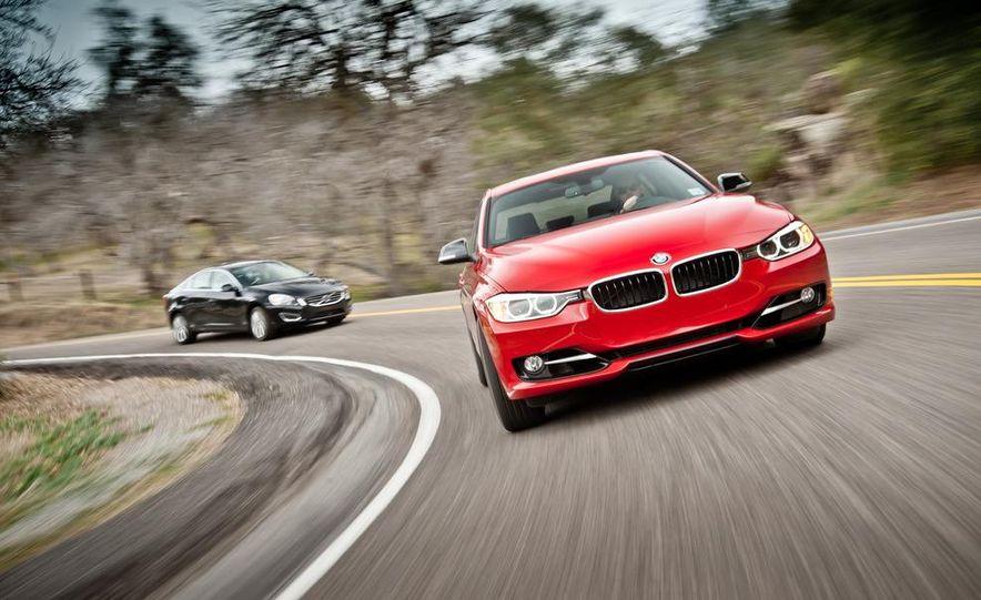 2012 Mercedes-Benz C250 Sport, 2012 Volvo S60 T6 AWD, 2012 Audi A4 2.0T Quattro, 2012 Infiniti G25, and 2012 BMW 328i - Slide 7