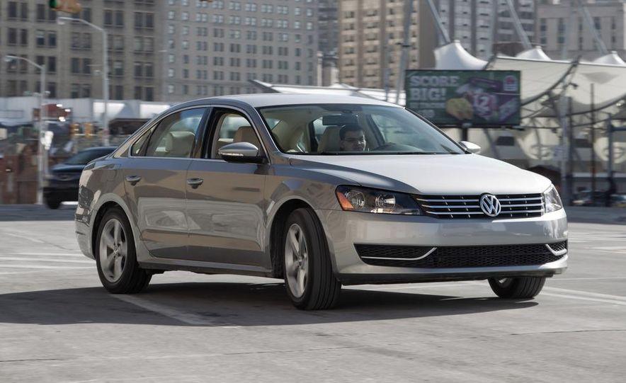 2012 Volkswagen Passat 2.5 SE, 2012 Honda Accord EX-L, 2012 Hyundai Sonata SE, 2012 Toyota SE, 2012 Kia Optima EX, and 2013 Chevrolet Malibu Eco - Slide 5