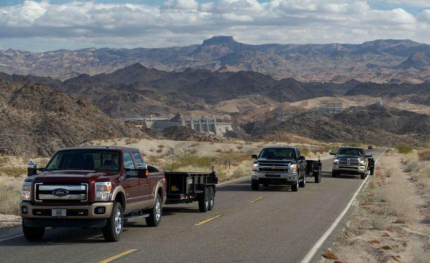 2012 Ford F-250 Super Duty King Ranch 4x4 crew cab and 2012 Chevrolet Silverado 2500 LTZ 4WD crew cab - Slide 7