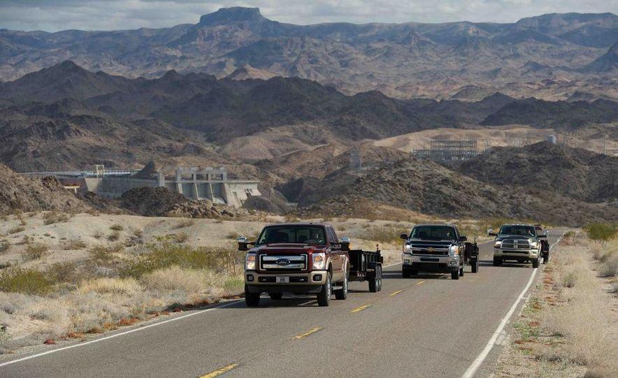 2012 Ford F-250 Super Duty King Ranch 4x4 crew cab and 2012 Chevrolet Silverado 2500 LTZ 4WD crew cab - Slide 8