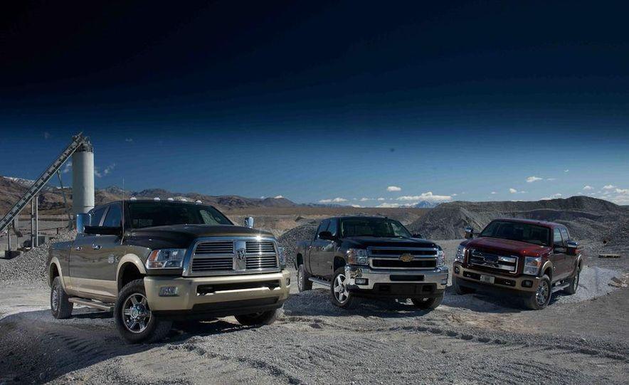 2012 Ford F-250 Super Duty King Ranch 4x4 crew cab and 2012 Chevrolet Silverado 2500 LTZ 4WD crew cab - Slide 9