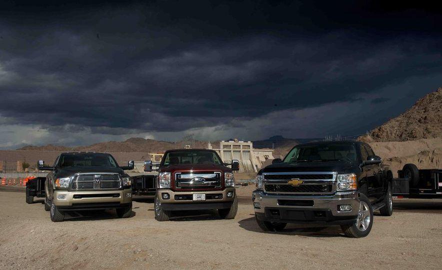 2012 Ford F-250 Super Duty King Ranch 4x4 crew cab and 2012 Chevrolet Silverado 2500 LTZ 4WD crew cab - Slide 2