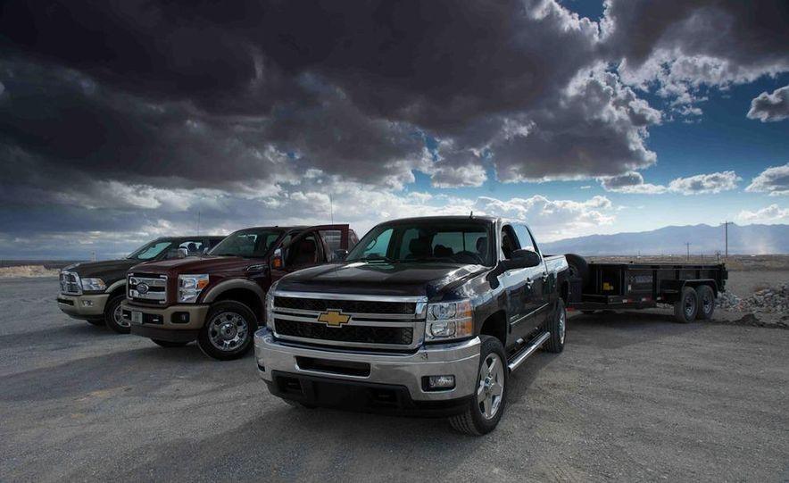 2012 Ford F-250 Super Duty King Ranch 4x4 crew cab and 2012 Chevrolet Silverado 2500 LTZ 4WD crew cab - Slide 3