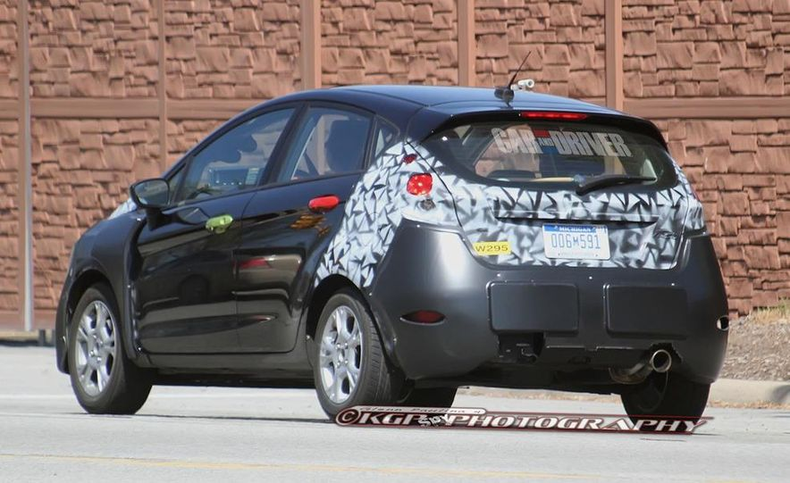 2014 Ford Fiesta hatchback (spy photo) - Slide 10
