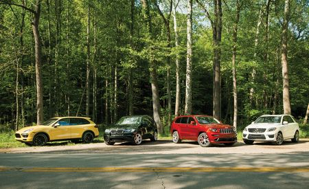 2012 BMW X5 M vs. 2012 Jeep Grand Cherokee SRT8, 2012 Mercedes-Benz ML63 AMG, 2012 Porsche Cayenne Turbo