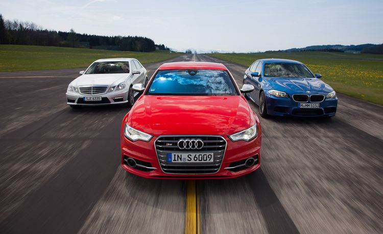 2013 Audi S6 vs. 2013 BMW M5, 2012 Mercedes-Benz E63 AMG