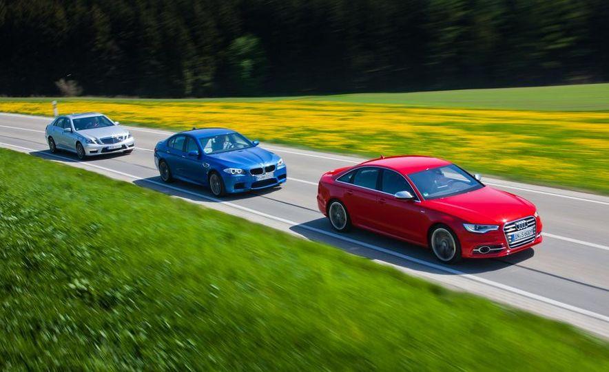 2012 Mercedes-Benz E63 AMG, 2013 Audi S6, and BMW M5 - Slide 10
