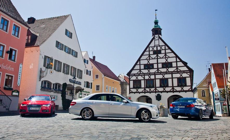2012 Mercedes-Benz E63 AMG, 2013 Audi S6, and BMW M5 - Slide 8