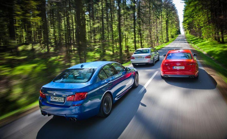 2012 Mercedes-Benz E63 AMG, 2013 Audi S6, and BMW M5 - Slide 12