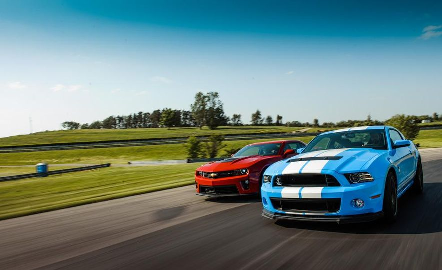 2012 Chevrolet Camaro ZL1 and 2013 Ford Mustang Shelby GT500 - Slide 1