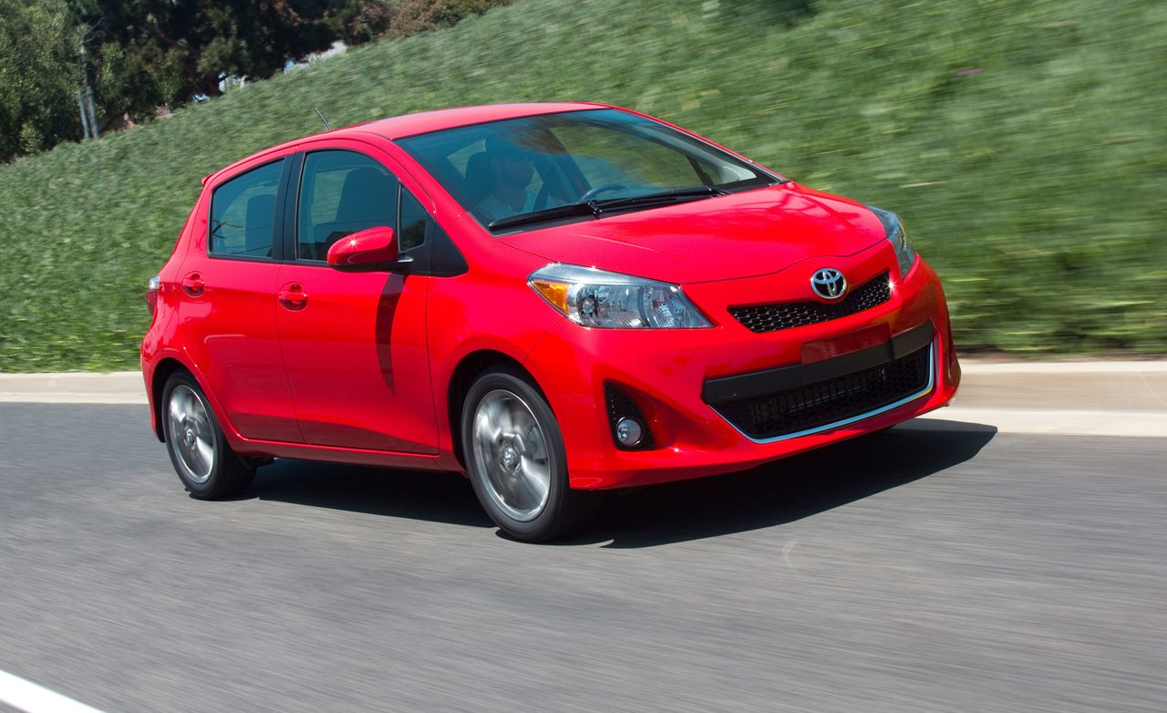 2012 toyota yaris hatchback automatic test review car and driver rh caranddriver com Show Low Ford Toyota Yaris Hatch