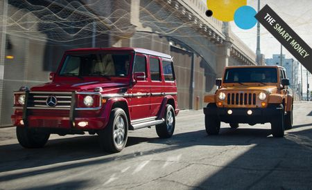 2012 Jeep Wrangler Unlimited Rubicon vs. 2012 Mercedes-Benz G550